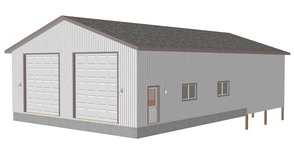 RV Garage Plans G416 38 x 43 x 14 detached shop with 38 – Detached Rv Garage Plans