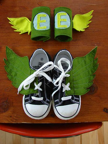 Mr E arm cuffs and shoe wings | by hownowdesign