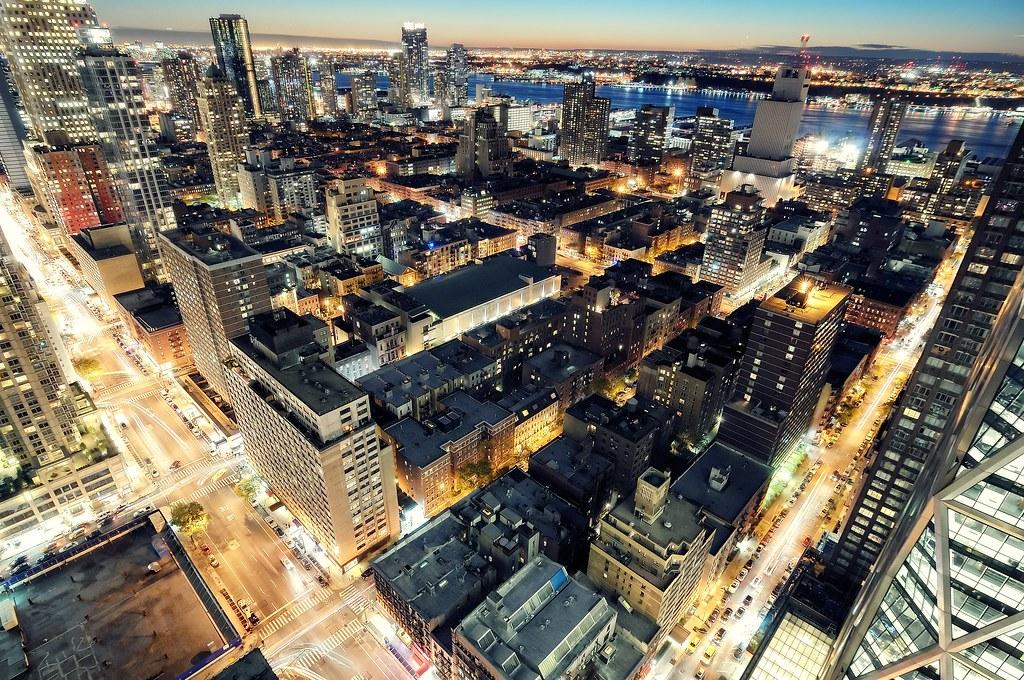 Twilight over Hells Kitchen New York City
