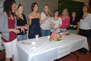 Student Assistants with their finished gingerbread house | by California State University Channel Islands