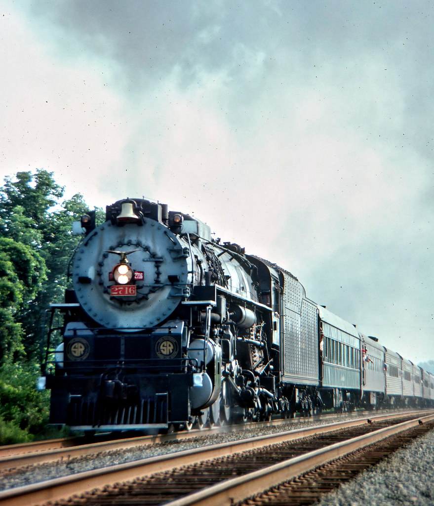 Southern 2716 Mainline Central Virginia Running At Track