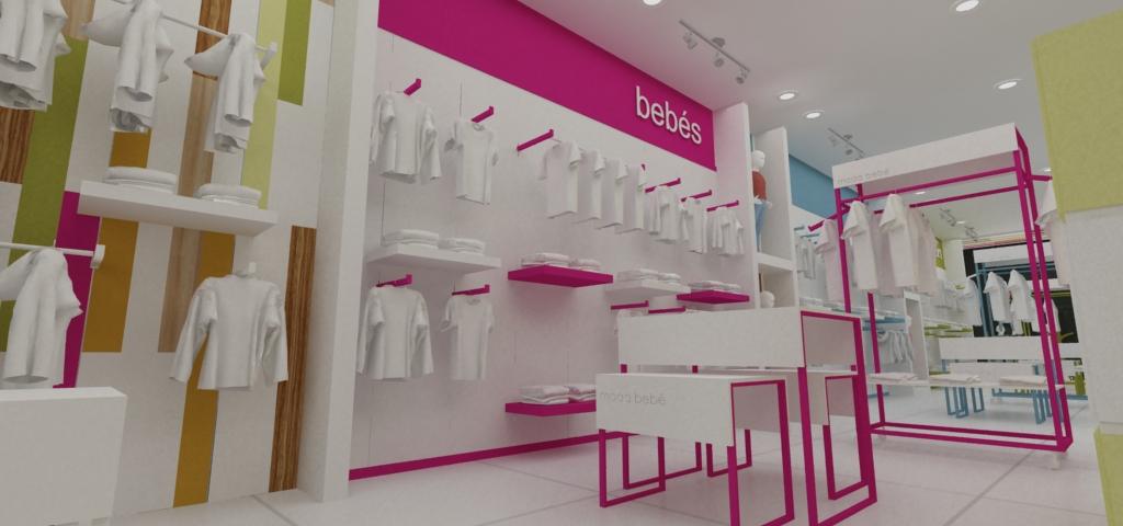 Dise o de exhibicion y ambientacion para tiendas de bebe - Diseno ropa infantil ...