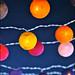 Guirlandes lumineuses - Marché de Noël de la Place Carnot