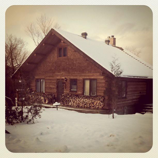 La maison en bois rond Vero b Flickr # Maison En Bois Rond