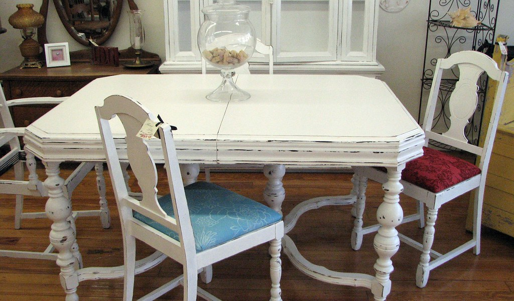 shabby chic dining room table 4 chairs flickr
