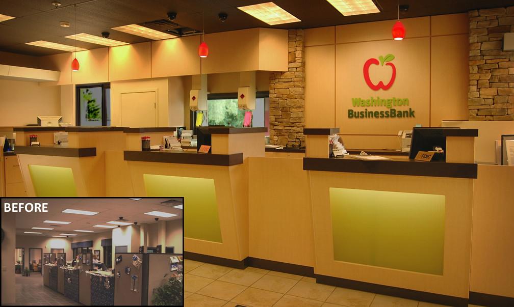 bank teller design bank remodel washington business ba. Black Bedroom Furniture Sets. Home Design Ideas