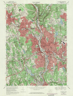 Waterbury Quadrangle 1972 - USGS Topographic Map 1:24,000 | by uconnlibrariesmagic