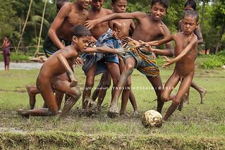football fever in monsoon! | taken at tanguar haor ...