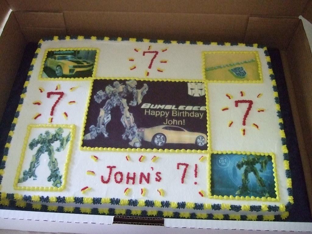 Transformer Sheet Cake Full Sheet Cake 22x28 Half