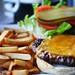 mushroom burger & fries