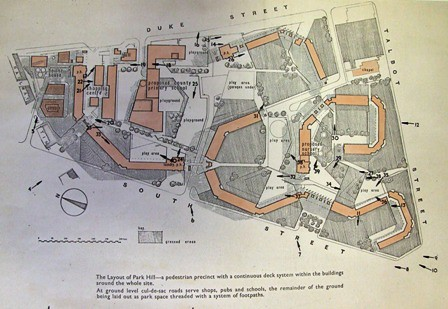 Site Plan of Park Hill Flats Sheffield Taken from a colle – How To Get A Site Plan