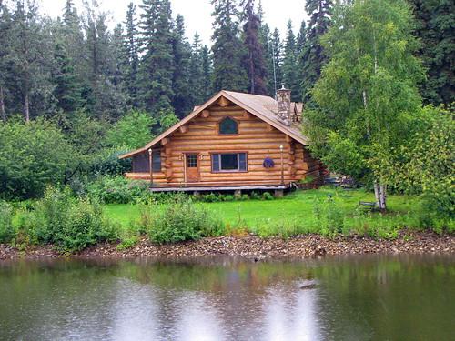 Log House Along The Chena River Fairbanks Alaska Flickr