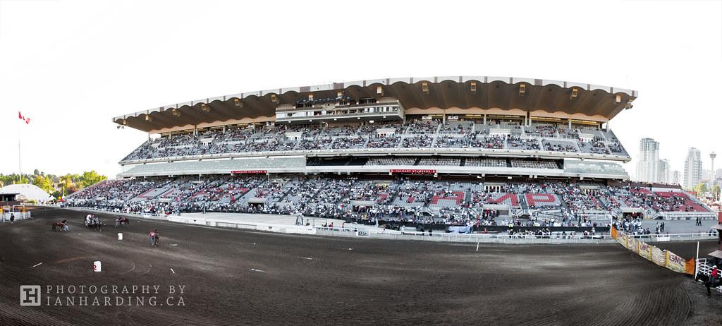 Calgary Stampede Grandstand Panorama Panoramic Image Of