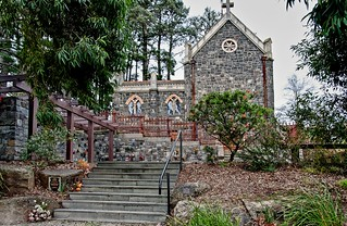 Montsalvat Chapel seen from Eltham Cemetery | by Richard Ellender