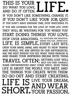 This is Your Life (The Holstee Manifesto) | by JoeInSouthernCA