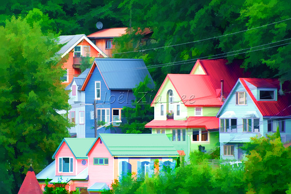 Colorful Houses These Houses On The Hillside Above