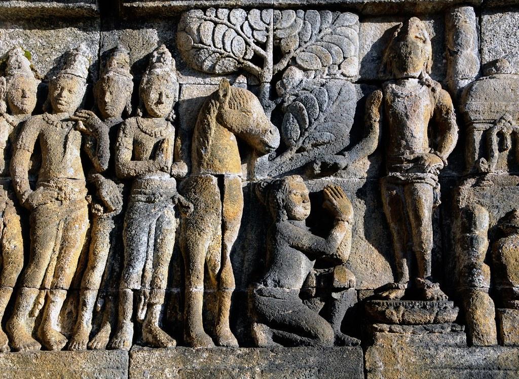 Borobudur java stone carving