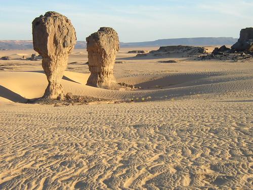 Roca fungiforme o en seta - Tagrera (Argelia) - 01