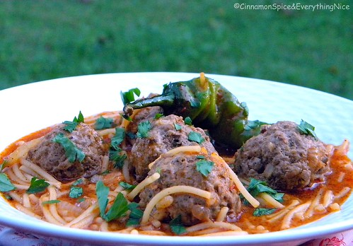 Spicy Vermicelli Noodle Soup with Meatballs | by CinnamonKitchn