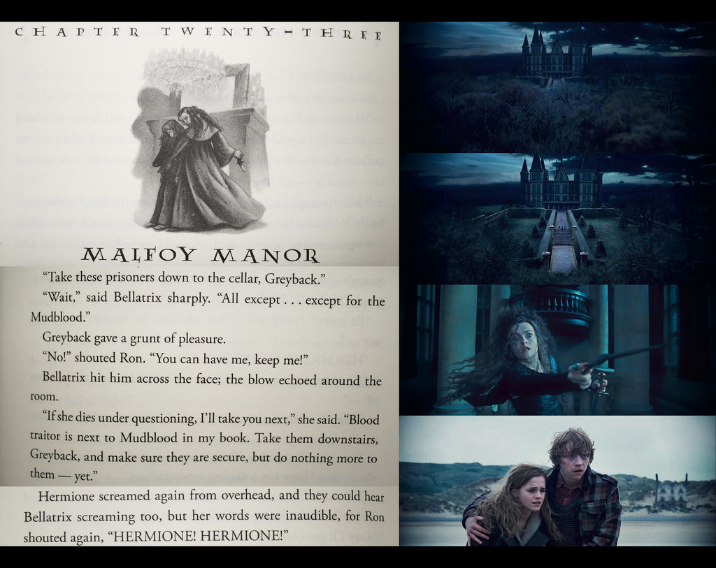 Harry Potter Book Trailer : Harry potter and the deathly hallows chapter malfoy m