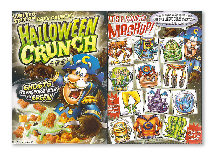 2010 Quaker Cap'n Crunch Halloween Crunch Cereal Box | Flickr