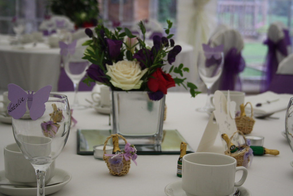 Square Mirror Vase See More Details Of Wedding Flowers At Flickr