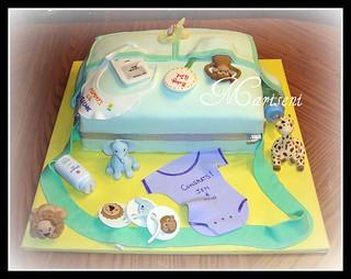 Cake Art N R Colony : Diaper Bag Baby Shower Cake chocolate cake with banana ...