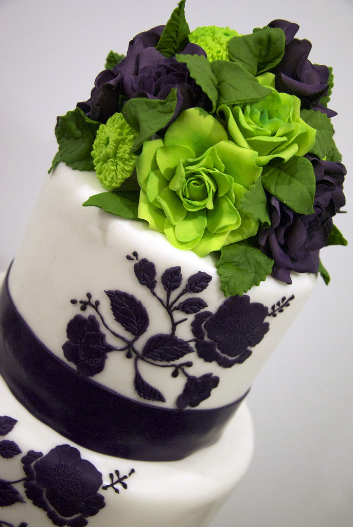 purple and lime green wedding cakes w9066 purple lime wedding cake w9066 a 4 tier 18862