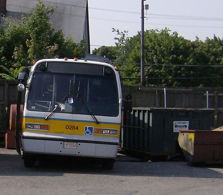 MBTA Nova RTS Bus 0284 At The Fellsway Garage