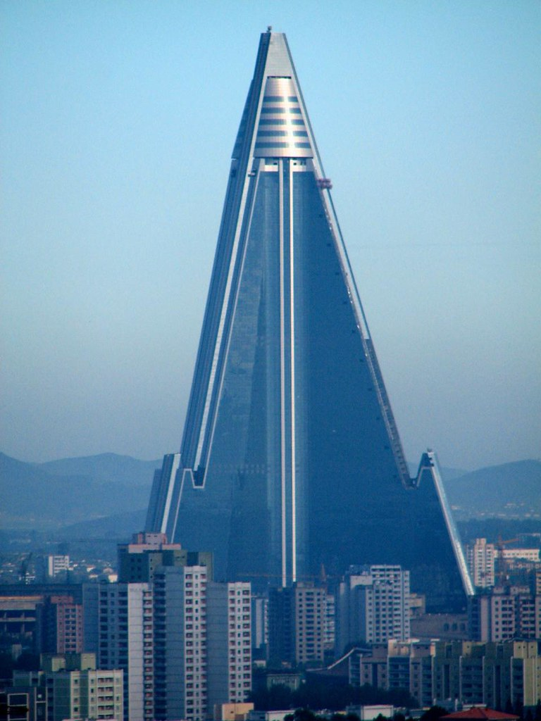The Ryugyong Hotel In Statu Nascendi Pyongyang North Kor