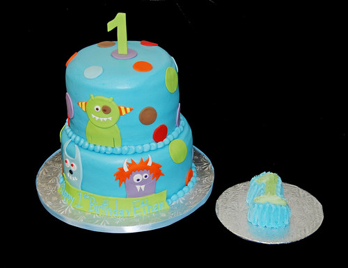Monster Themed Birthday Cake Themed 1st Birthday Cake