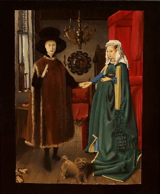 the arnolfini wedding portrait For years the painting was believed to be a portrait of the marriage of a wealthy  merchant called giovanni arnolfini and his young bride.