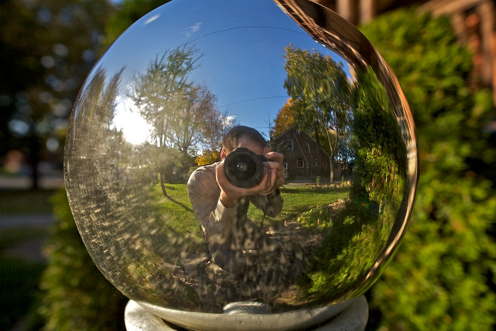 Sphere Reflection Ds337 Found This Person Taking A