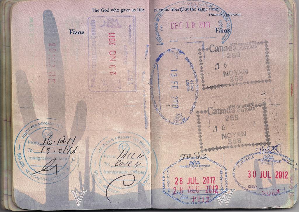 Usa Passport Canada Mexico Belize Usa Cambodia Flickr