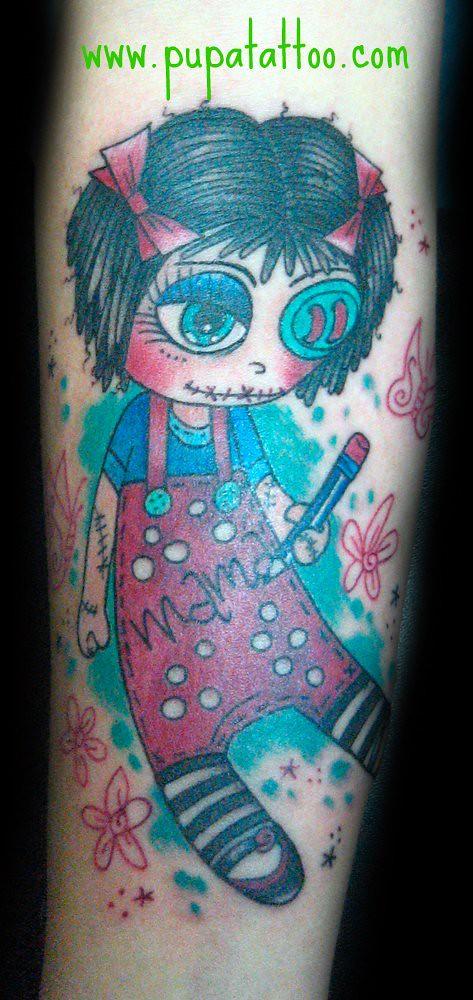 Tatuaje Muñeca De Trapo Pupa Tattoo Granada Pupa Tattoo Ar Flickr