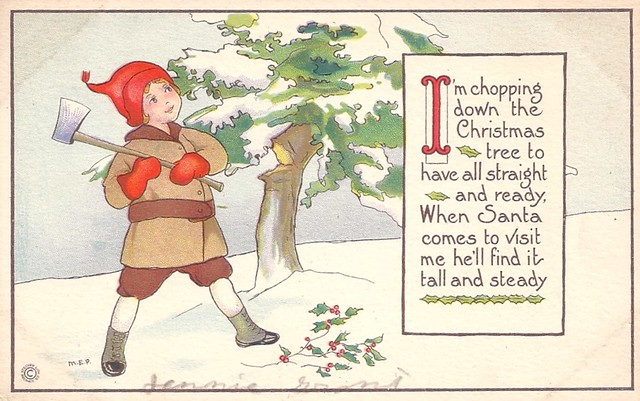 Chopping Down The Christmas Tree Poem, 1921