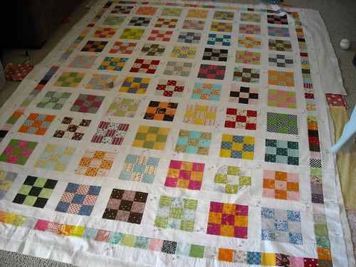basted 9-patch quilt | by vickivictoria