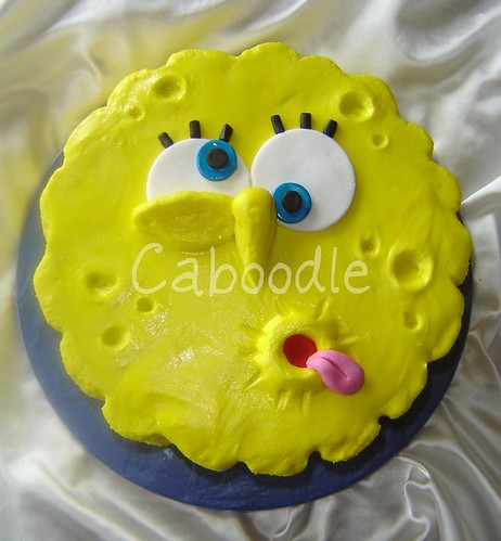 Spongebob Round Face This Was A Wee Cake I Made For My