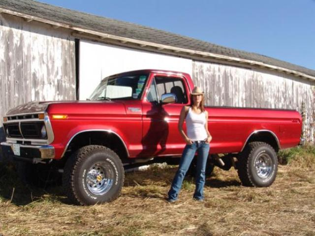 New Ford Trucks >> 77 Ford Pickup   Good lookin' example of truck and girl ...