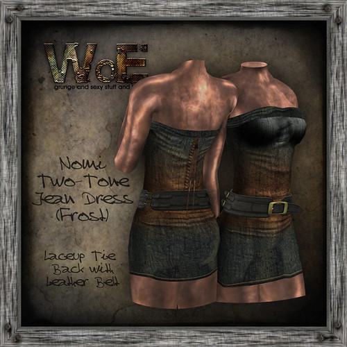 Nomi Twain Jean Dress (Frost) | by :. WoE .: