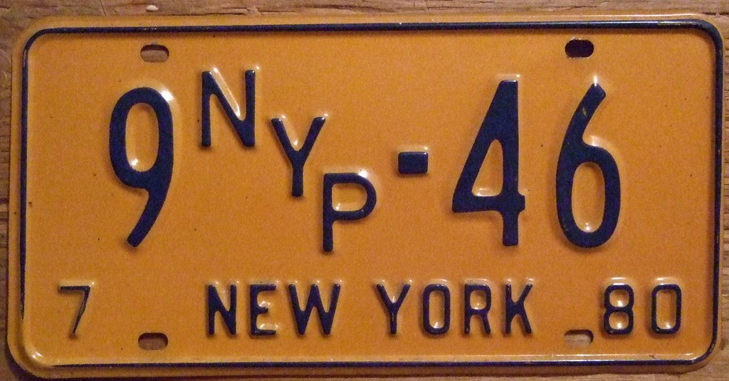 License Plate Camera >> NEW YORK 1980 ---NEW YORK PRESS LICENSE PLATE | These ...