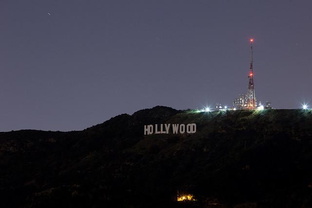 Hollywood Sign @ Night   Flickr - Photo Sharing!