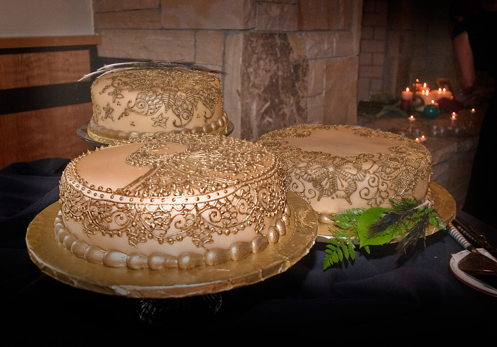 Henna Wedding Cake On Display Dwrowan Flickr