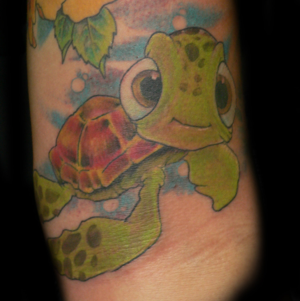 Squirt turtle tattoo squirt from little nemo part of a for Little turtle tattoo