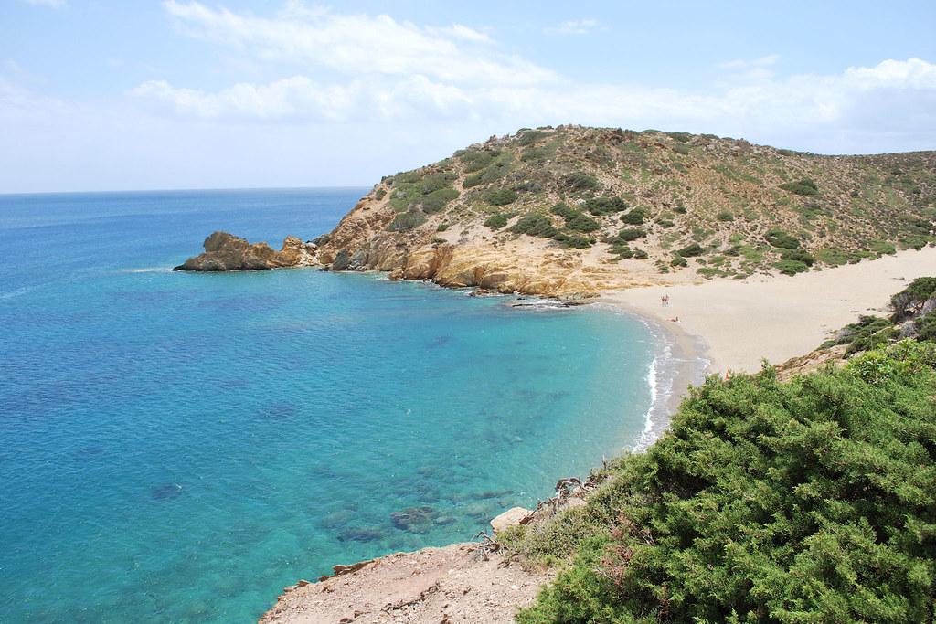 Vai Beach, Crete | Secluded cove at Vai, Crete. Just ...