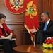 Helen Clark with Prime Minister, Milo Djukanovic, Montenegro