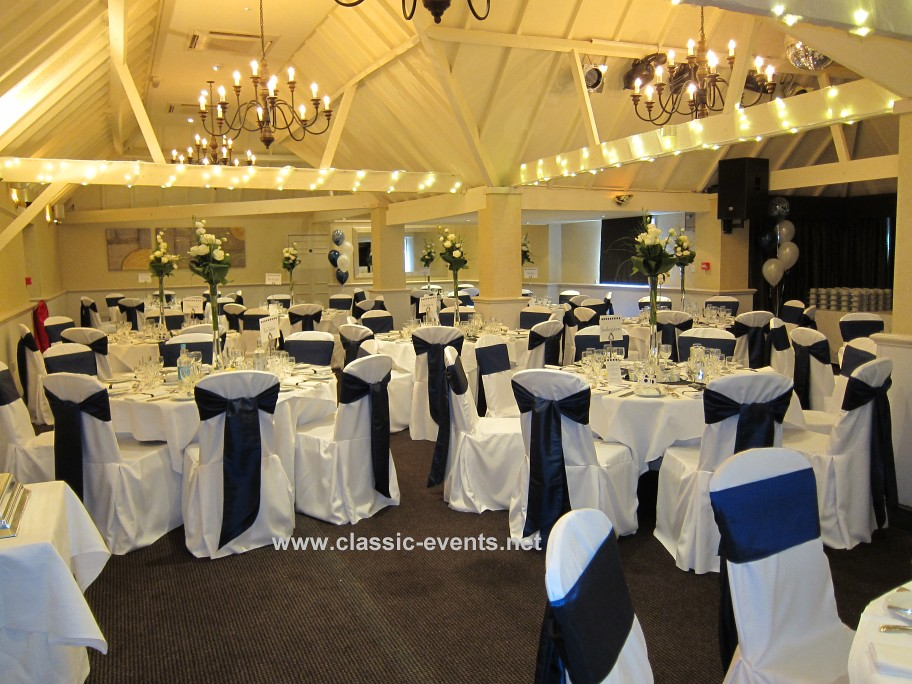 Classic Events at Rowhill Grange Navy | Wedding Venue Decor … | Flickr
