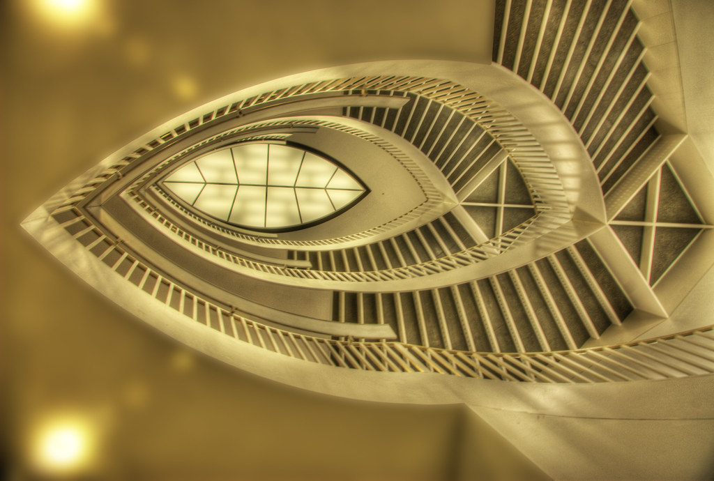 ... Up The Spiral Staircase | By Thad Roan   Bridgepix