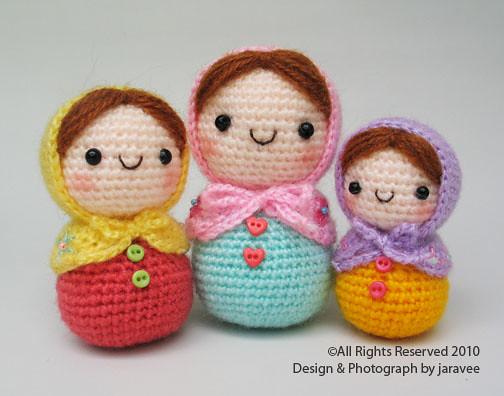Amigurumi Russian Dolls : Matryoshka Amigurumi I love cute matryoshka! Jaravee ...