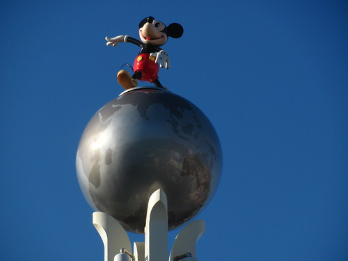 Mickey on top of the Crossroads of the World | by Castles, Capes & Clones